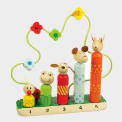 ξύλινο παιχνίδι με κομματάκια για να φτιάχνουμε ζωάκια