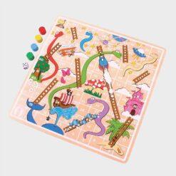 ξύλινο επιτραπέζιο παιχνίδι φιδάκι
