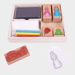 ξύλινο κουτί με σφραγίδες πριγίπισσες