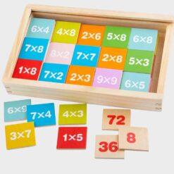 λασιασμου ξύλινο κουτί με ταμπαλάκια με πράξεις πολλαπη