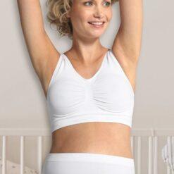 σουτιέν εγκυμοσύνης χωρίς ραφές σε αθλητικό στυλ σε λευκό χρώμα