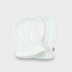 λευκά βαμβακερά γαντάκια χουφτίτσες με λαστιχάκι για νεογέννητο