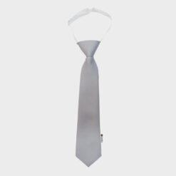 παιδική γραβάτα γκρι ασημί
