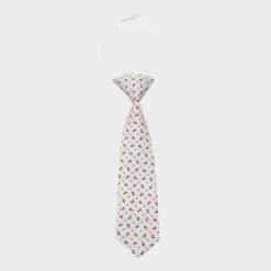 γραβάτα βαμβακερή παιδική με σχέδιο κόκκινο μπλε