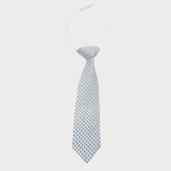 γραβάτα παιδική εκού με πουά μπλε σιέλ