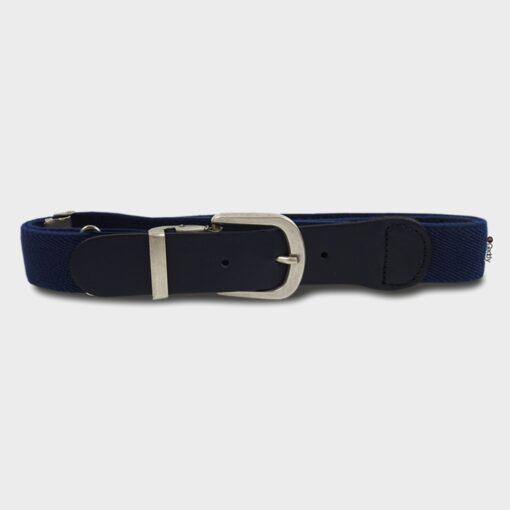 παιδική ζώνη ελαστική με δέρμα μπλε σκούρο