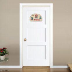 Ξύλινη Πινακίδα για την Πόρτα του Παιδικού Δωματίου με Όνομα Γοργόνα