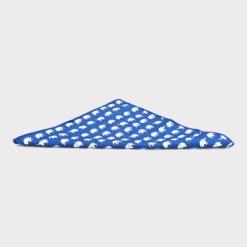μαντηλάκι τσέπης παιδικό μπλε με σχέδιο λευκά ελφαντάκια