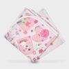 πάνα για το τύλιγμα του μωρού από μαλακό χασεδένιο ύφασμα σασν σεντόνι σταμπωτές με σχέδιο καρδιές και αρκουδάκια και πουά τετράγωνες 90Χ90εκατοστά