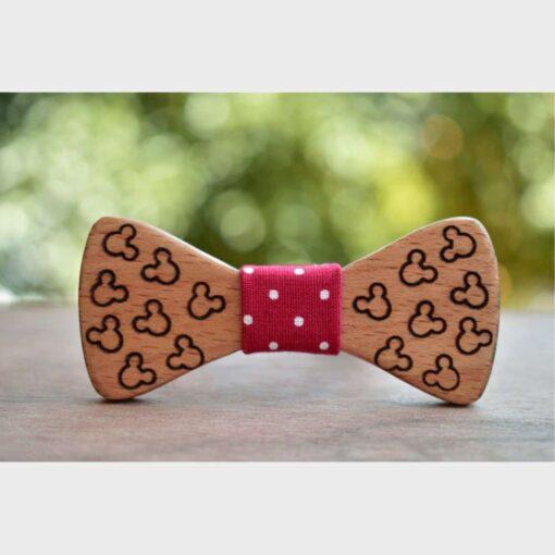 Ξύλινο Βρεφικό Παπιγιόν Mickey