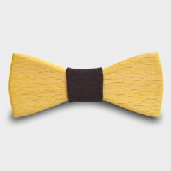 Ξύλινο Παπιγιόν Παιδικό Κίτρινο Ρουστίκ