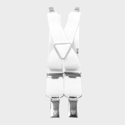 Παιδικές Τιράντες με 4 Κλιπς Λευκό
