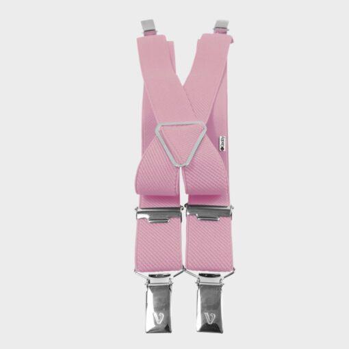 Παιδικές Τιράντες με 4 Κλιπς 25mm Ροζ