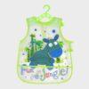 μεγάλη πλαστική σαλιάρα με τύπωμα ζέβρα σε πράσινα μπλε χρώματα