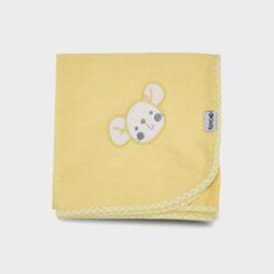 πάνα χασέ κίτρινη με κέντημα ποντικάκι και καρώ ρέλι