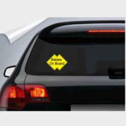 αυτοκόλλητο για το αυτοκίνητο κίτρινο babies on board