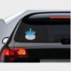 αυτοκόλλητο για το αυτοκίνητο baby on board μωβ γκρι κορώνα prince