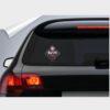 αυτοκόλλητο για το αυτοκίνητο baby on board μαύρο ροζ rock