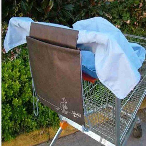 κάλυμμα για την περιοχή που κάθεται το παιδί στο καρότσι του supermarket σιέλ