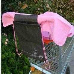 κάλυμμα για την περιοχή που κάθεται το παιδί στο καρότσι του supermarket ροζ