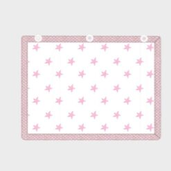κουρτινάκι για προστασία από τον ήλιο για το παράθυρο του αυτοκινήτου λευκό με ροζ αστεράκια
