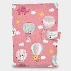 Κάλυμμα για Βιβλιάριο Υγείας Παιδιού Ζωάκια & Αερόστατα