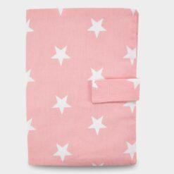 Κάλυμμα για Βιβλιάριο Υγείας Παιδιού Ροζ Αστέρια