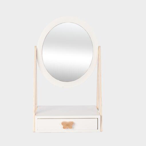 Ξύλινο έπιπλο καθρέφτης με συρταράκι